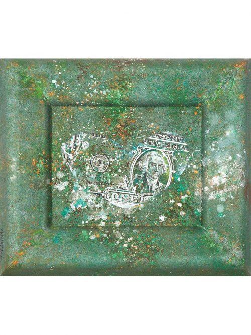 Reproducción de arte - imagen destacada - Amortizado - Pigmentos y Óleo - pintura protesta -pintado por Fernando Pagador