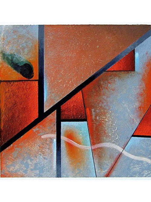 Reproducción de arte - imagen destacada - Tribal I - Óleo - Geometrías-pintado por Fernando Pagador