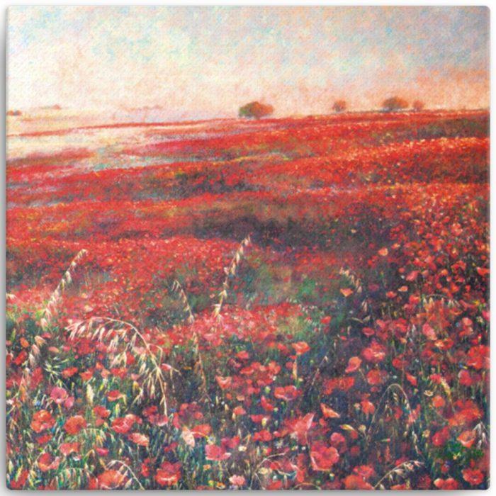 Reproducción de arte en lienzo 30x30 cm - Termino de Valverde 3 - Óleo - Paisaje - Naturalismo -pintado por Fernando Pagador