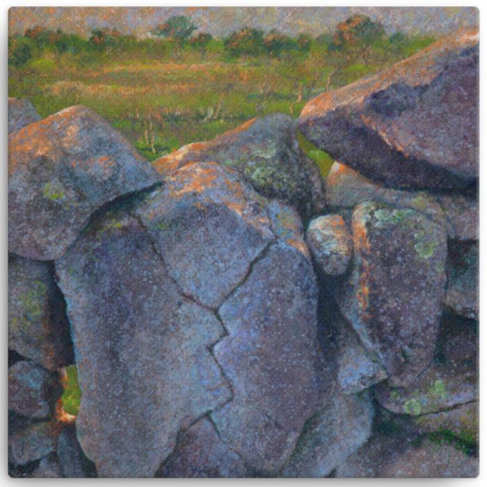 Reproducción de arte en lienzo 30x30 cm - Ancestros - Óleo - Paisaje - Naturalismo -pintado por Fernando Pagador