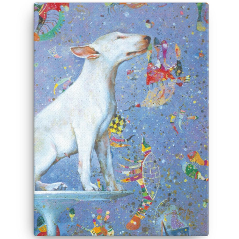 Reproducción de arte en lienzo 30x41 cm - El Perro de Kandinsky - Óleo - Realismo Cósmico-pintado por Fernando Pagador