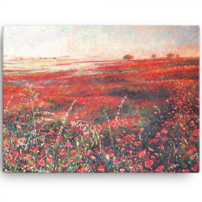 Reproducción de arte en lienzo 30x41 cm - Termino de Valverde 3 - Óleo - Paisaje - Naturalismo -pintado por Fernando Pagador