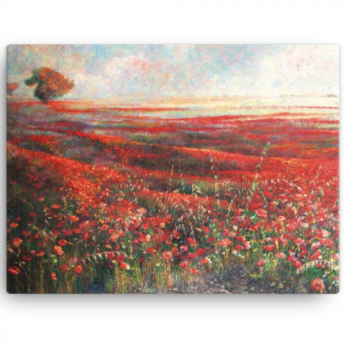 Reproducción de arte en lienzo 30x41 cm - Termino de Valverde 1 - Óleo - Paisaje - Naturalismo -pintado por Fernando Pagador