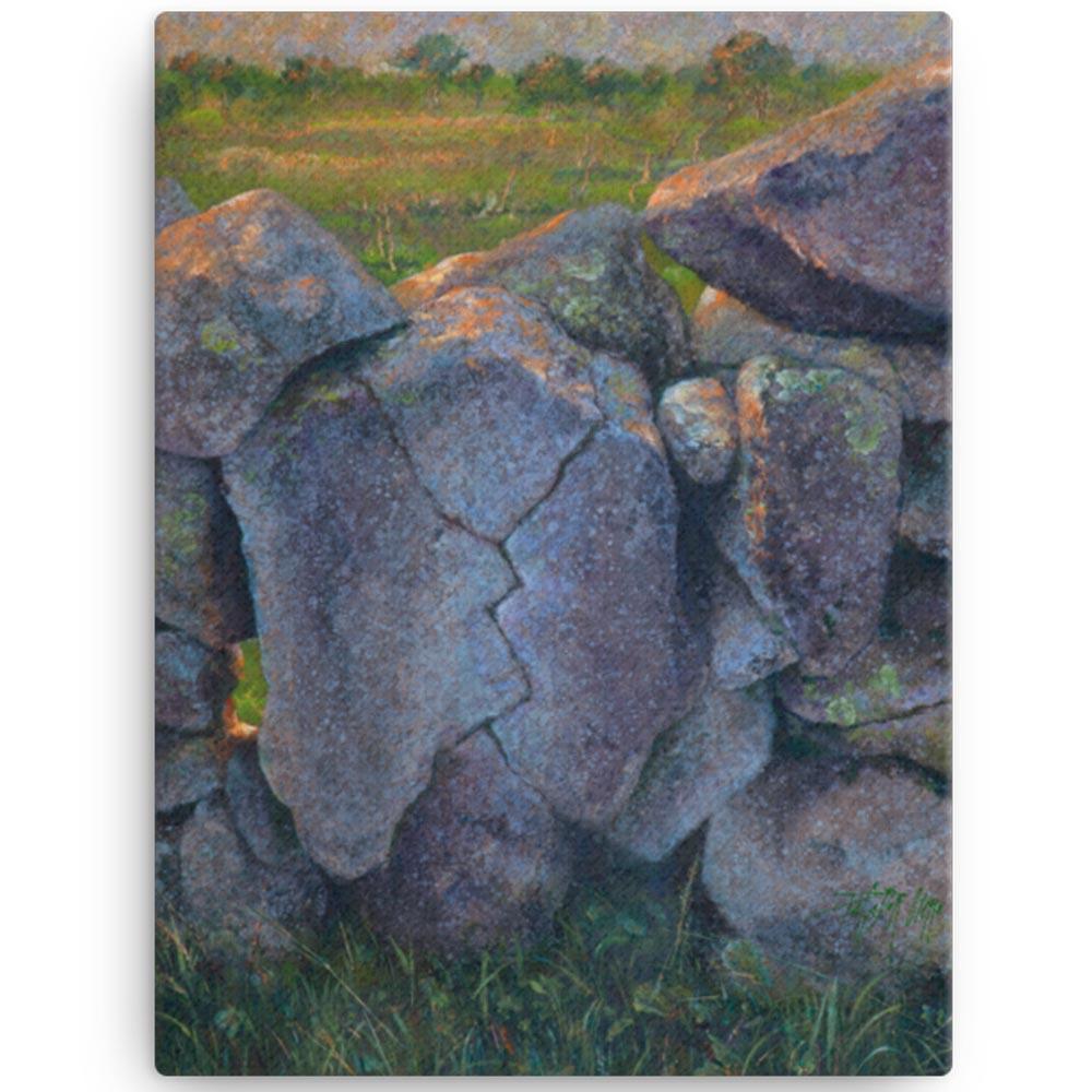 Reproducción de arte en lienzo 30x41 cm - Ancestros - Óleo - Paisaje - Naturalismo -pintado por Fernando Pagador