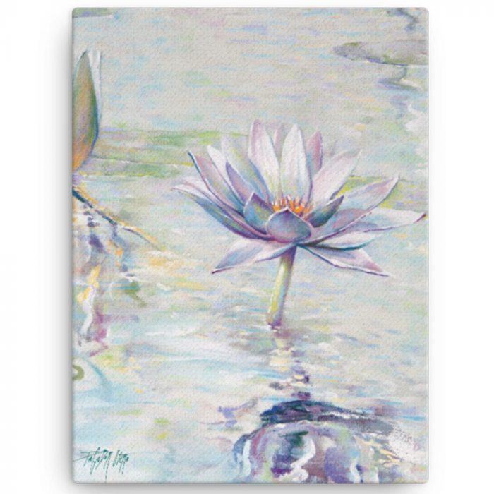 Reproducción de arte en lienzo 30x41 cm - Agua II - Óleo - Paisaje - Naturalismo -pintado por Fernando Pagador