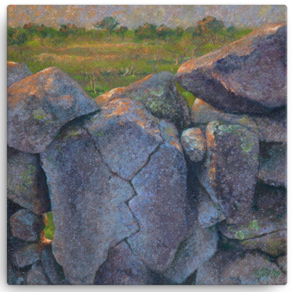 Reproducción de arte en lienzo 41x41 cm - Ancestros - Óleo - Paisaje - Naturalismo -pintado por Fernando Pagador