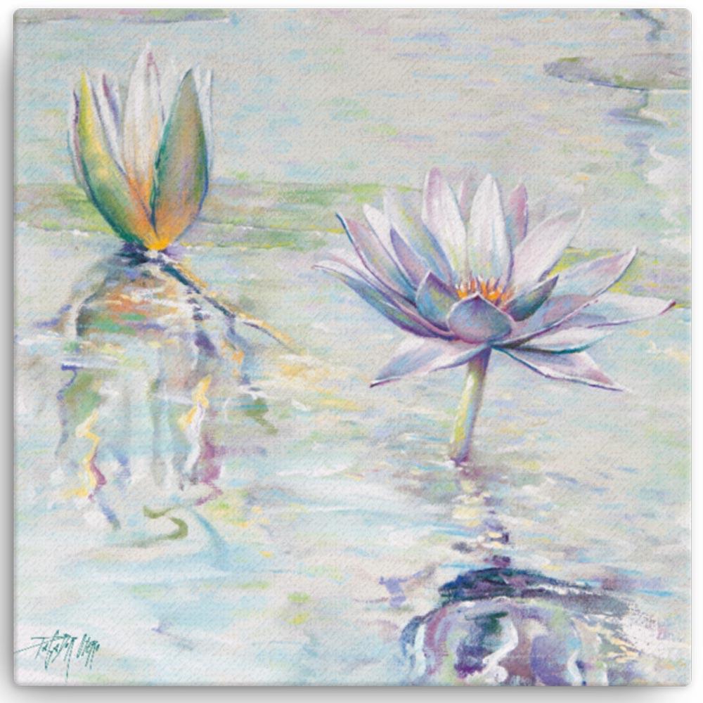 Reproducción de arte en lienzo 41x41 cm - Agua II - Óleo - Paisaje - Naturalismo -pintado por Fernando Pagador