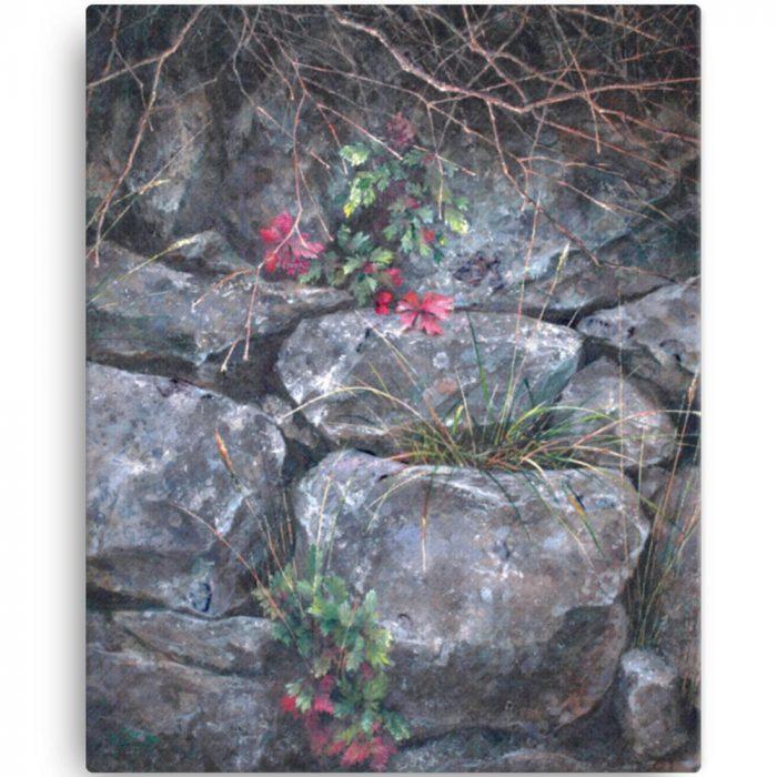 Reproducción de arte en lienzo 41x51 cm - Supervivientes - Óleo - Naturalismo-pintado por Fernando Pagador
