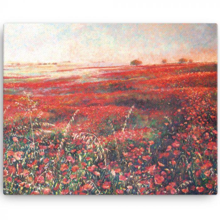 Reproducción de arte en lienzo 41x51 cm - Termino de Valverde 3 - Óleo - Paisaje - Naturalismo -pintado por Fernando Pagador