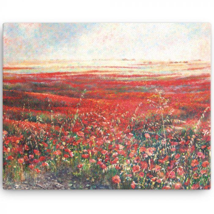 Reproducción de arte en lienzo 41x51 cm - Termino de Valverde 2 - Óleo - Paisaje - Naturalismo -pintado por Fernando Pagador
