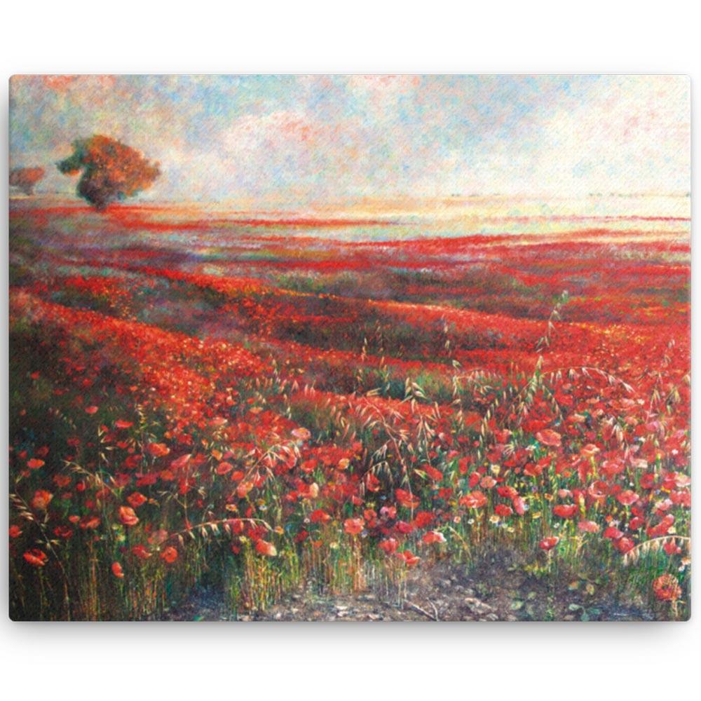 Reproducción de arte en lienzo 41x51 cm - Termino de Valverde 1 - Óleo - Paisaje - Naturalismo -pintado por Fernando Pagador