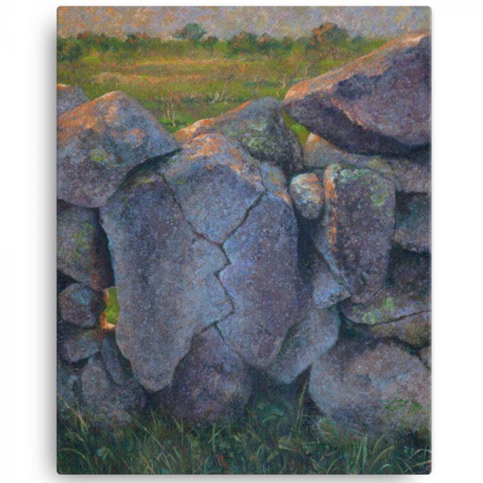 Reproducción de arte en lienzo 41x51 cm - Ancestros - Óleo - Paisaje - Naturalismo -pintado por Fernando Pagador