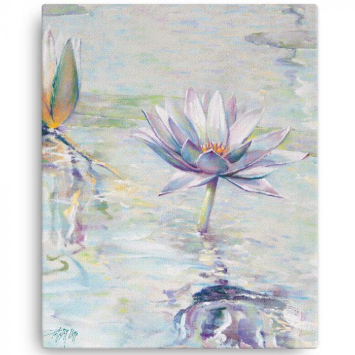 Reproducción de arte en lienzo 41x51 cm - Agua II - Óleo - Paisaje - Naturalismo -pintado por Fernando Pagador