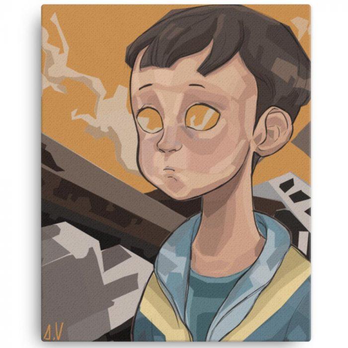Reproducción de arte en lienzo 41x51 cm - Siria - Diseño Digital - Protesta - Ilustración -pintado por Aida Valdayo
