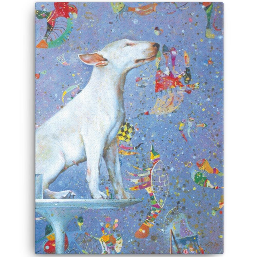 Reproducción de arte en lienzo 46x61 cm - El Perro de Kandinsky - Óleo - Realismo Cósmico-pintado por Fernando Pagador