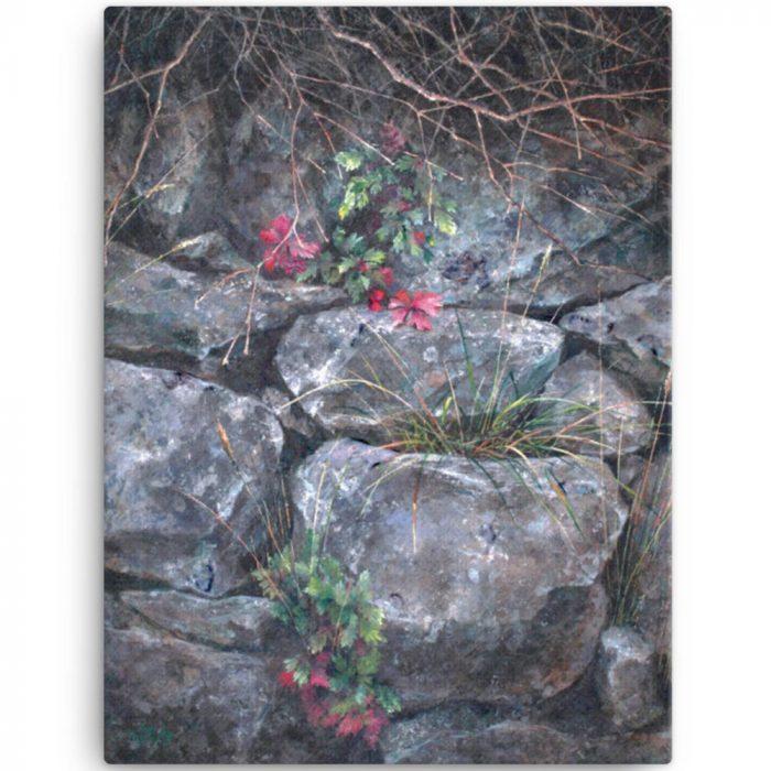 Reproducción de arte en lienzo 46x61 cm - Supervivientes - Óleo - Naturalismo-pintado por Fernando Pagador