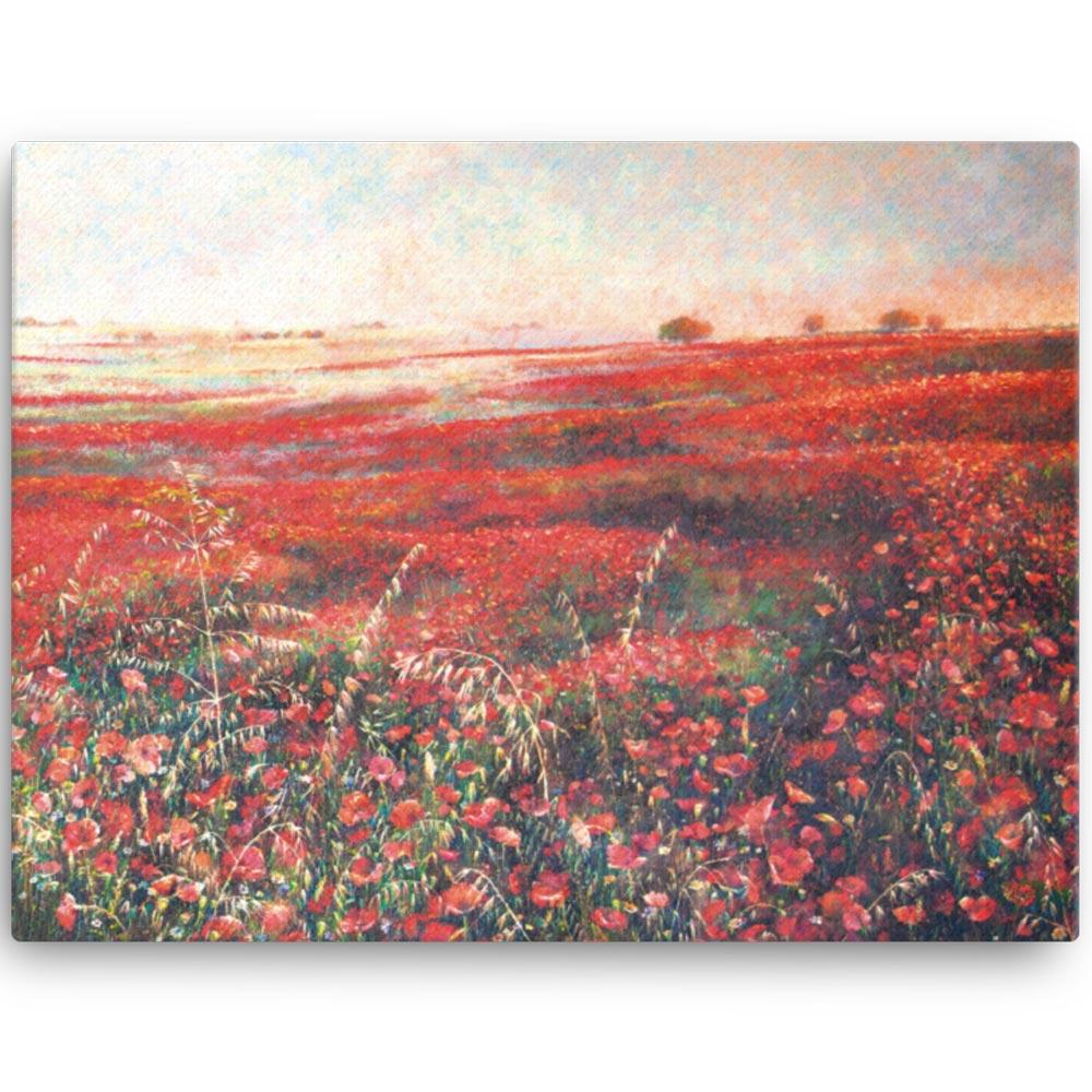 Reproducción de arte en lienzo 46x61 cm - Termino de Valverde 3 - Óleo - Paisaje - Naturalismo -pintado por Fernando Pagador