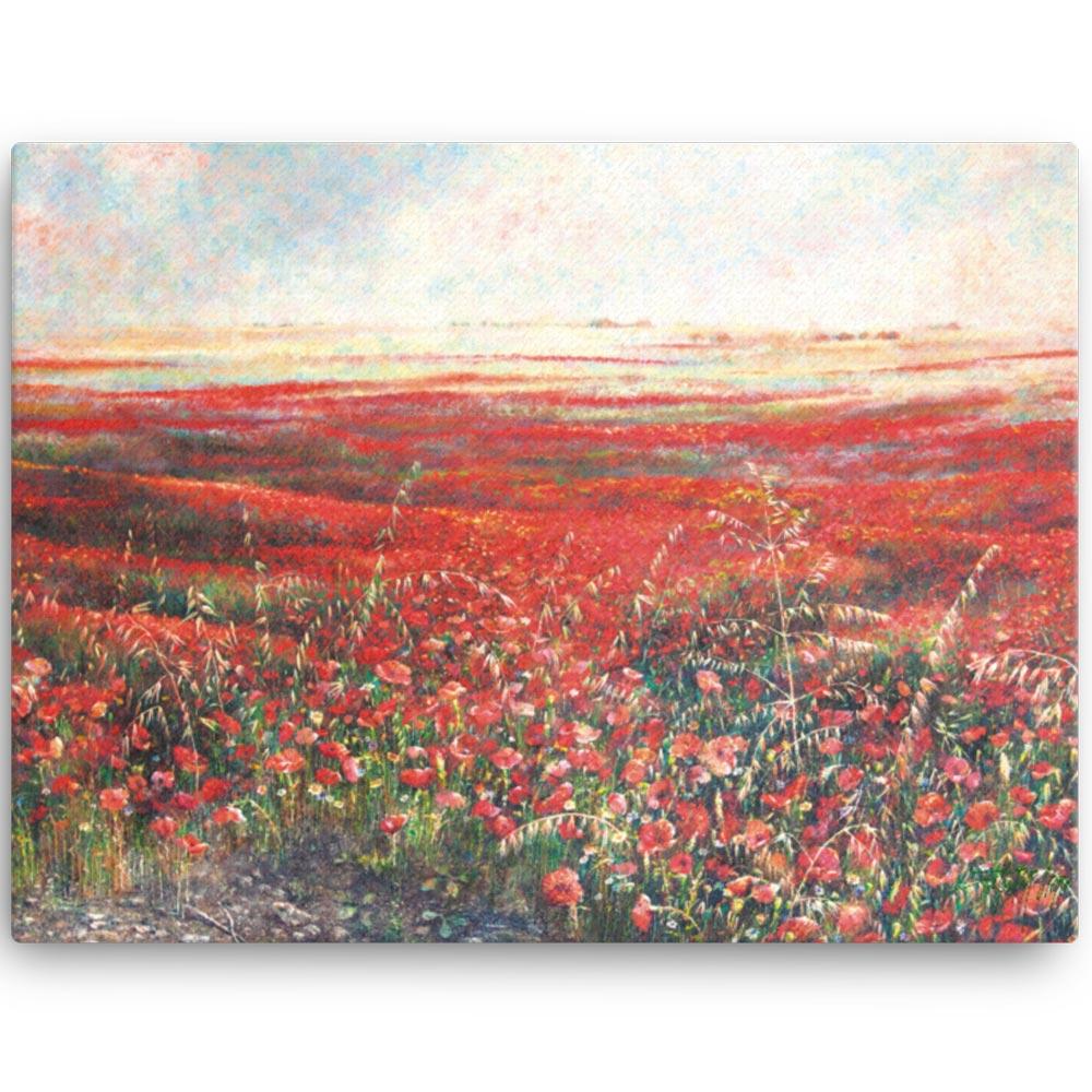 Reproducción de arte en lienzo 46x61 cm - Termino de Valverde 2 - Óleo - Paisaje - Naturalismo -pintado por Fernando Pagador