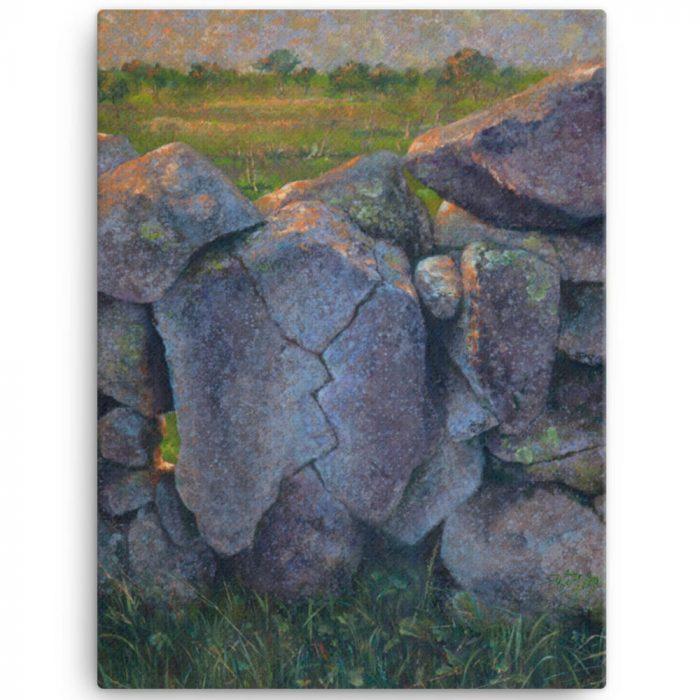 Reproducción de arte en lienzo 46x61 cm - Ancestros - Óleo - Paisaje - Naturalismo -pintado por Fernando Pagador