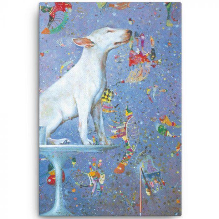 Reproducción de arte en lienzo 61x91 cm - El Perro de Kandinsky - Óleo - Realismo Cósmico-pintado por Fernando Pagador
