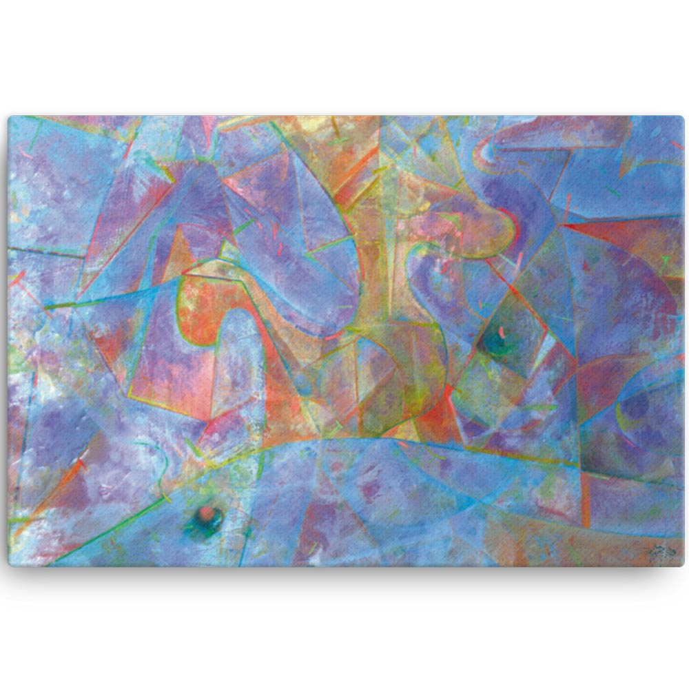 Reproducción de arte en lienzo 61x91 cm - Espacio de Comunicación - Encáustico - Geometria y Abstracción - Matérica -pintado por Fernando Pagador