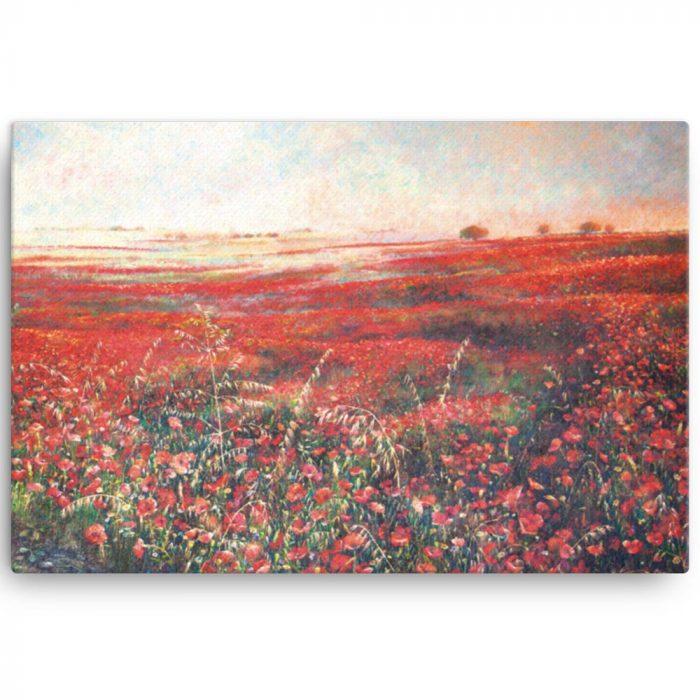 Reproducción de arte en lienzo 61x91 cm - Termino de Valverde 3 - Óleo - Paisaje - Naturalismo -pintado por Fernando Pagador