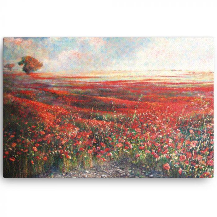 Reproducción de arte en lienzo 61x91 cm - Termino de Valverde 1 - Óleo - Paisaje - Naturalismo -pintado por Fernando Pagador