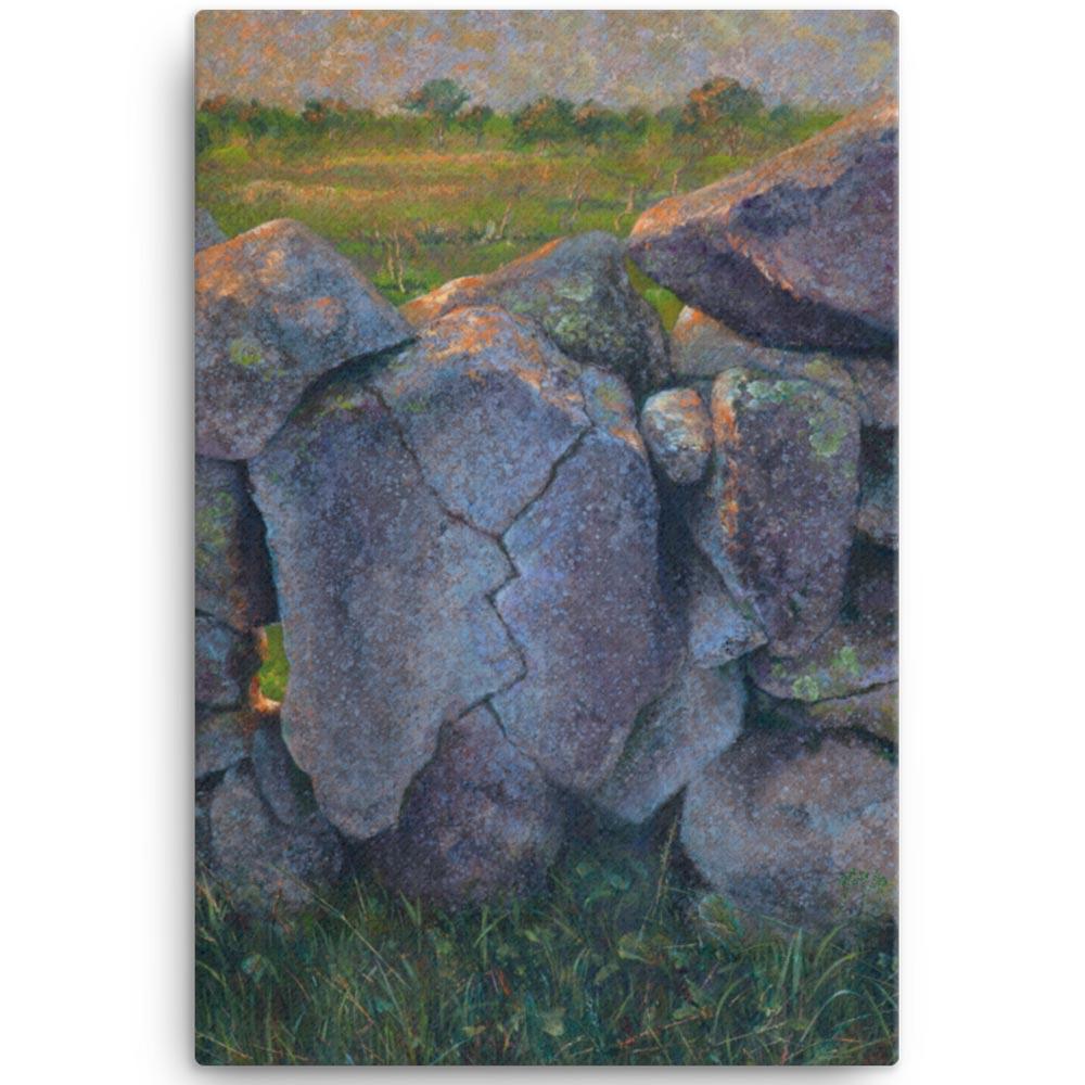 Reproducción de arte en lienzo 61x91 cm - Ancestros - Óleo - Paisaje - Naturalismo -pintado por Fernando Pagador