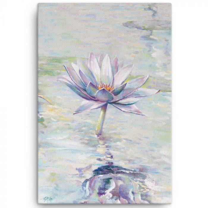 Reproducción de arte en lienzo 61x91 cm - Agua II - Óleo - Paisaje - Naturalismo -pintado por Fernando Pagador