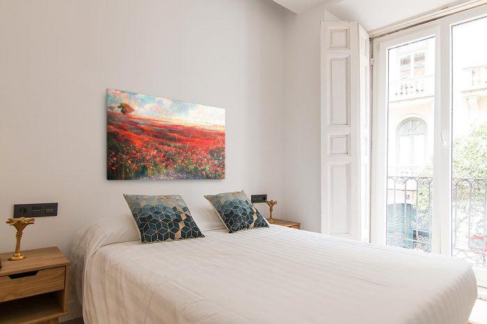 Reproducción de arte en lienzo - dormitorio con balcón - Termino de Valverde 1 - Óleo - Paisaje - Naturalismo -pintado por Fernando Pagador
