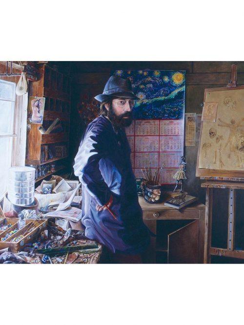 Reproducción de arte - imagen destacada - El Artista en su Estudio - Óleo - realismo -pintado por Fernando Pagador