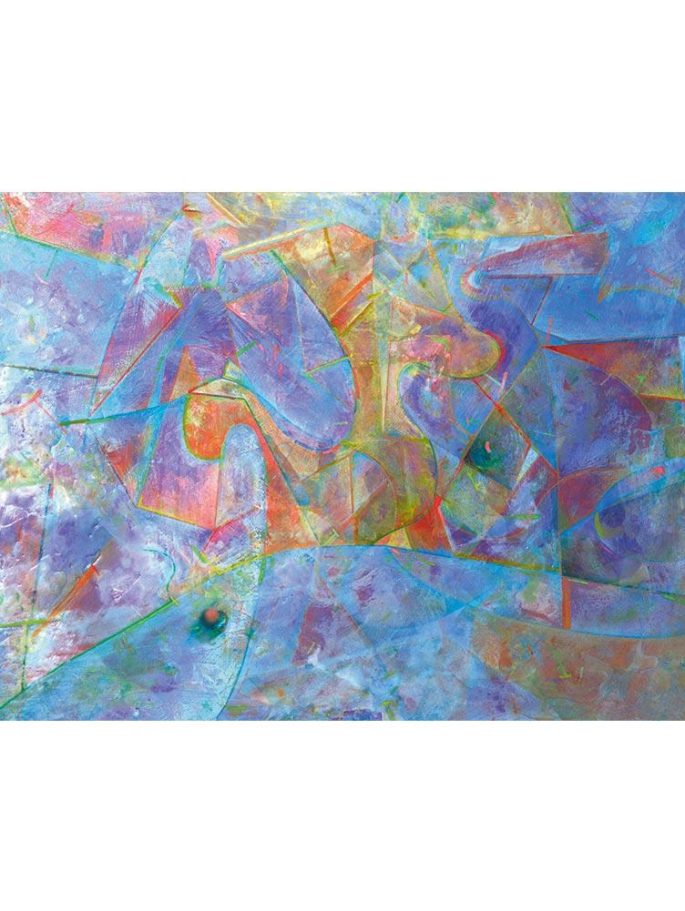 Reproducción de arte - imagen destacada - Espacio de Comunicación - Encáustico - Geometria y Abstracción - Matérica -pintado por Fernando Pagador