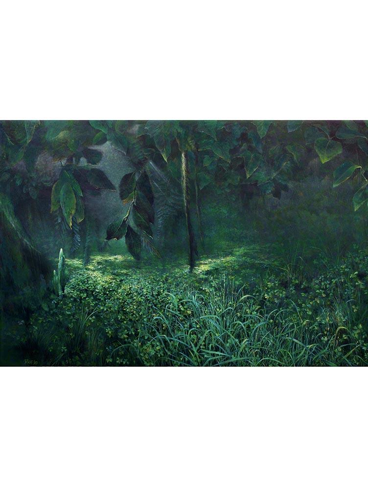 Reproducción de arte - imagen destacada - Clorofila Izquierda - Técnica Mixta - Paisaje - Naturalismo -pintado por Fernando Pagador