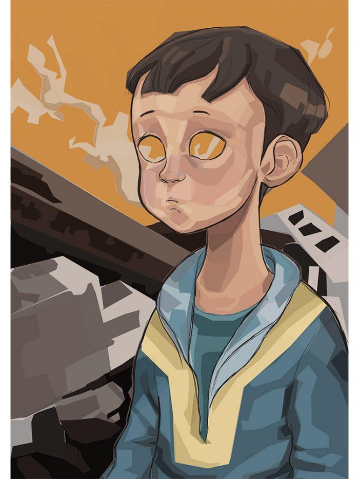 Reproducción de arte - imagen destacada - Siria - Diseño Digital - Protesta - Ilustración -pintado por Aida Valdayo