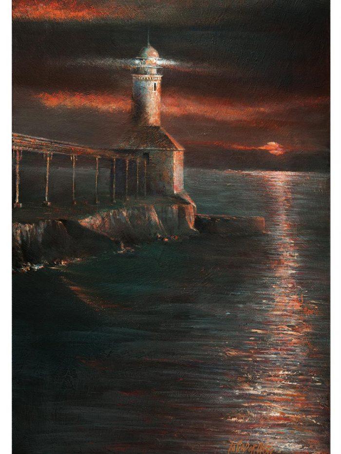 Reproducción de arte - imagen destacada - Matutino - Óleo - Paisaje costero - Impresionismo -pintado por Fernando Pagador