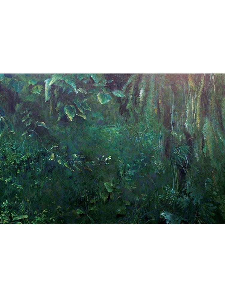 Reproducción de arte - imagen destacada - Clorofila Derecha - Técnica Mixta - Paisaje - Naturalismo -pintado por Fernando Pagador