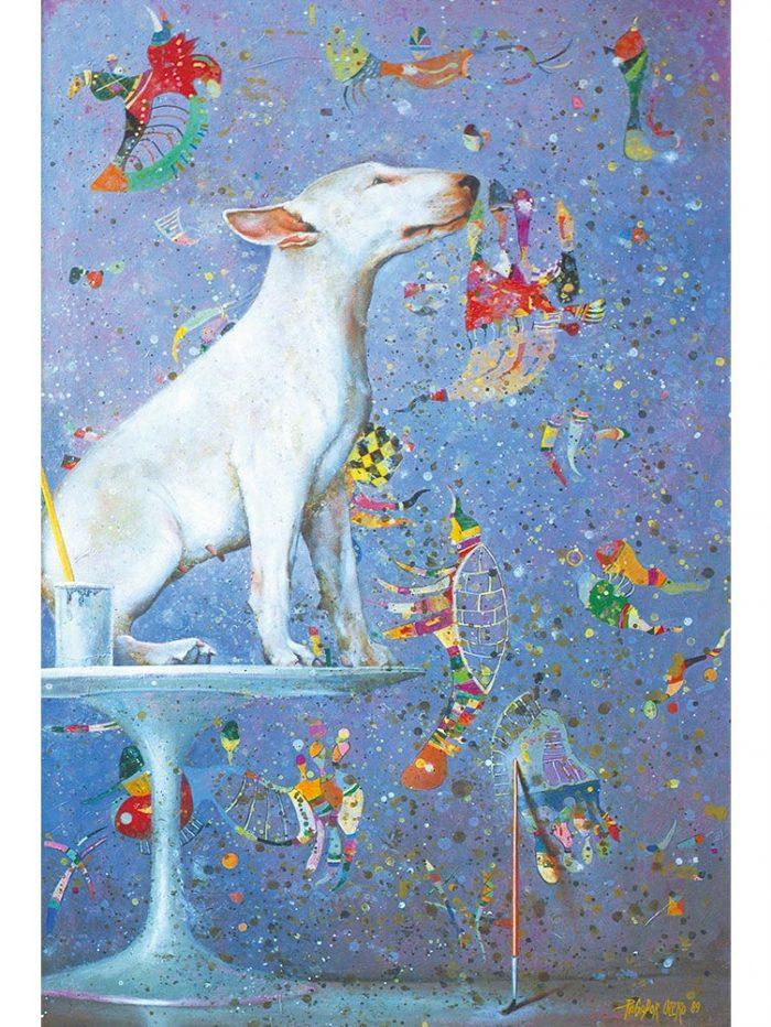 Reproducción de arte - imagen destacada - El Perro de Kandinsky - Óleo - Realismo Cósmico-pintado por Fernando Pagador