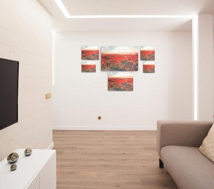Reproducción de arte en lienzo - salón - Termino de Valverde 2 - Óleo - Paisaje - Naturalismo -pintado por Fernando Pagador