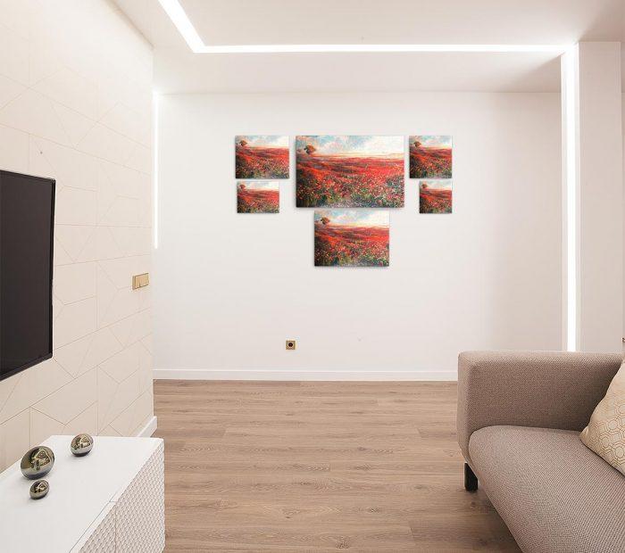 Reproducción de arte en lienzo - salón - Termino de Valverde 1 - Óleo - Paisaje - Naturalismo -pintado por Fernando Pagador