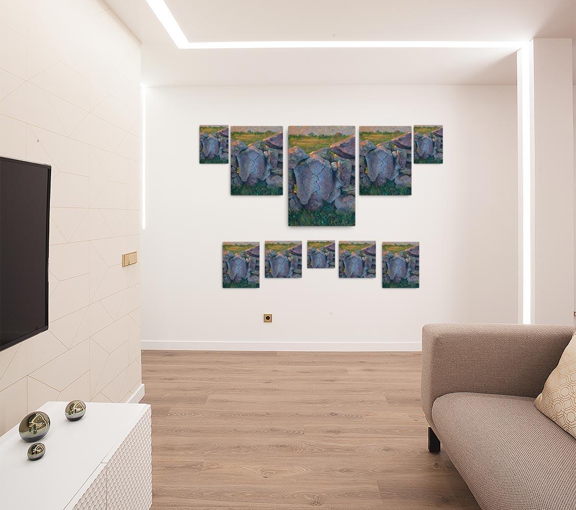 Reproducción de arte en lienzo - salón - Ancestros - Óleo - Paisaje - Naturalismo -pintado por Fernando Pagador