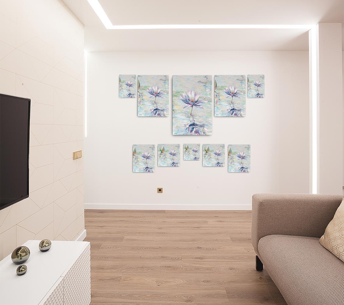 Reproducción de arte en lienzo - salón - Agua II - Óleo - Paisaje - Naturalismo -pintado por Fernando Pagador