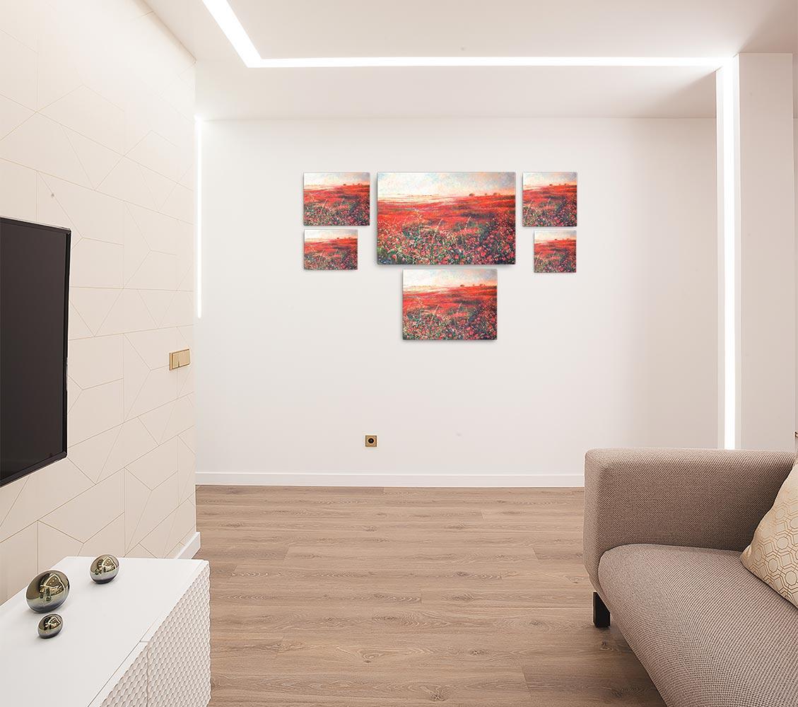 Reproducción de arte en lienzo - salón - Termino de Valverde 3 - Óleo - Paisaje - Naturalismo -pintado por Fernando Pagador