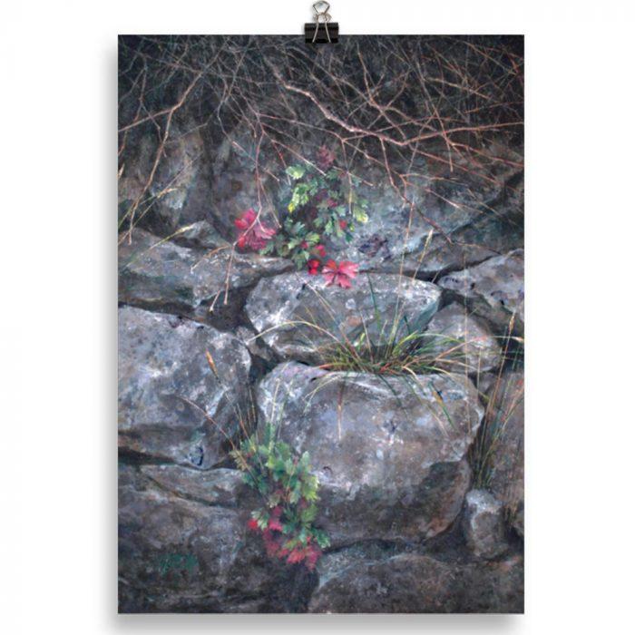 Reproducción de arte en lámina 21x30 cm - Supervivientes - Óleo - Naturalismo-pintado por Fernando Pagador