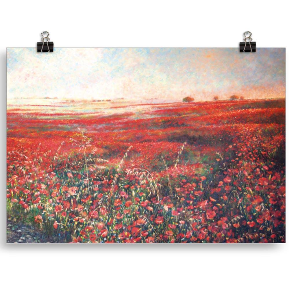 Reproducción de arte en lámina 30x21 cm - Termino de Valverde 3 - Óleo - Paisaje - Naturalismo -pintado por Fernando Pagador