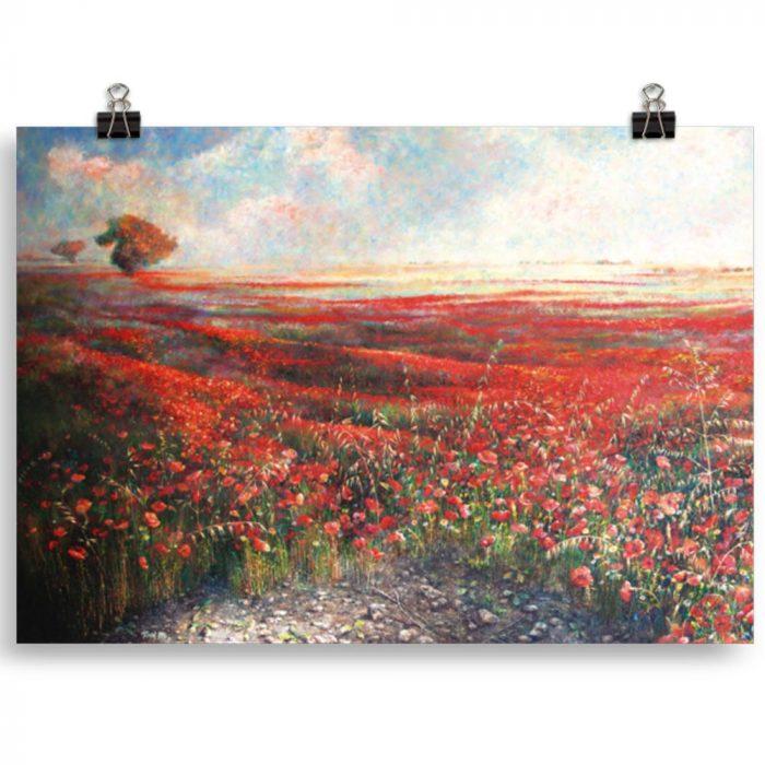 Reproducción de arte en lámina 30x21 cm - Termino de Valverde 1 - Óleo - Paisaje - Naturalismo -pintado por Fernando Pagador