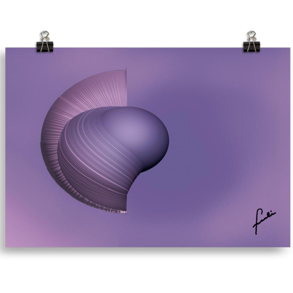 Reproducción de arte en lámina 21x40 cm - Guerrero Argarico - Diseño Digital - Abstracto - Fotografía y Pintura -pintado por Fuli