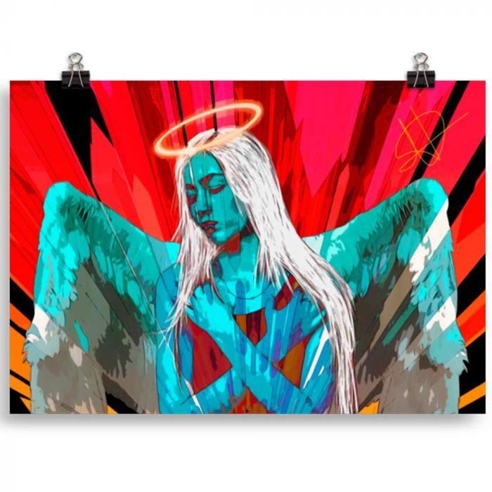 Reproducción de arte en lámina 30x21 cm - Angel Awakening - Diseño Digital - Ilustración - Fotografía y Pintura -pintado por WachiMakeArt