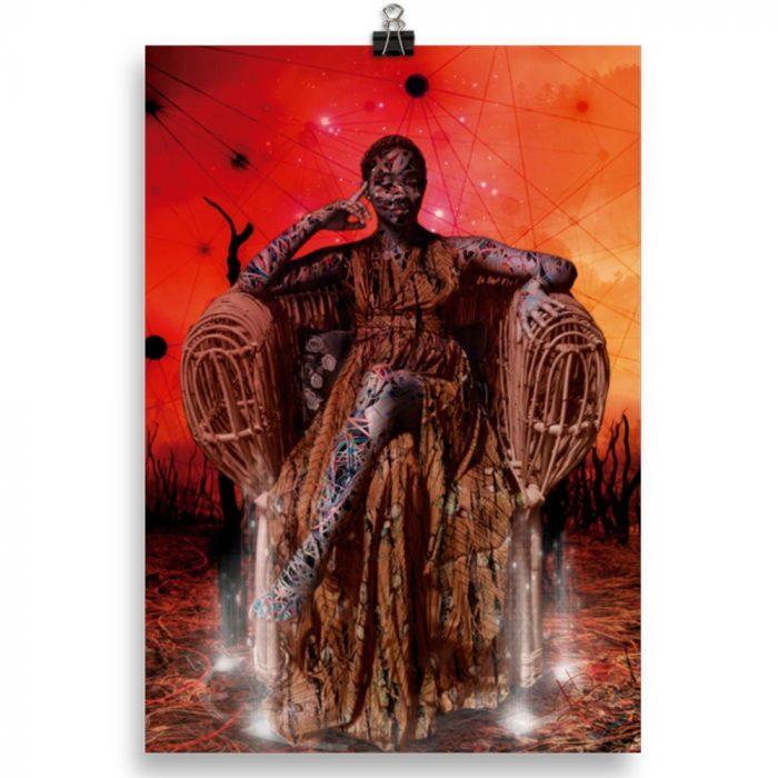 Reproducción de arte en lámina 30x21 cm - Desconexión - Diseño Digital - Ilustración - Fotografía y Pintura -pintado por WachiMakeArt