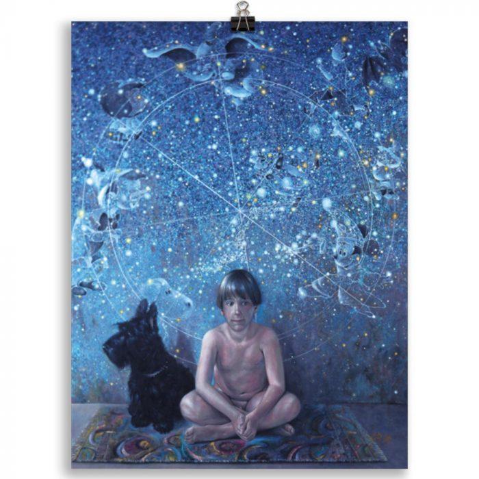 Reproducción de arte en lámina 30x40 cm - UNIVERSO INFANTIL - Óleo - Realismo -pintado por Fernando Pagador