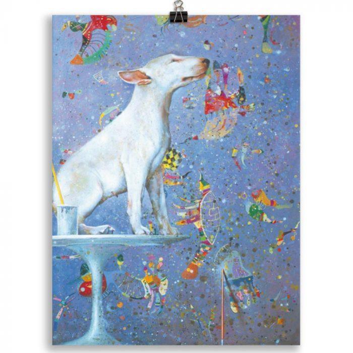 Reproducción de arte en lámina 30x40 cm - El Perro de Kandinsky - Óleo - Realismo Cósmico-pintado por Fernando Pagador